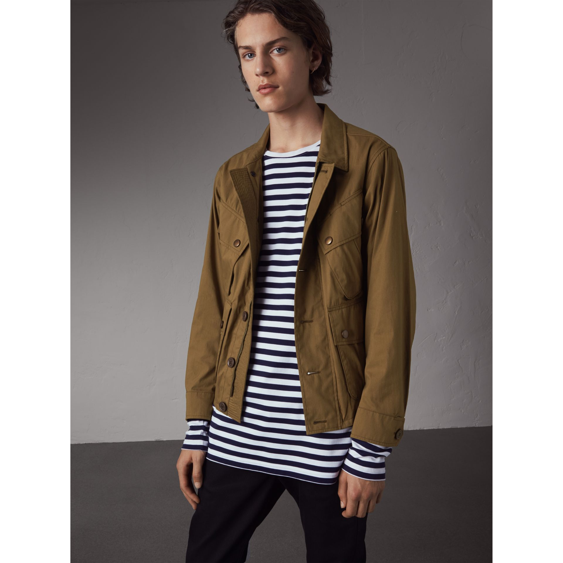 Technical Cotton Canvas Field Jacket - Men | Burberry - gallery image 1