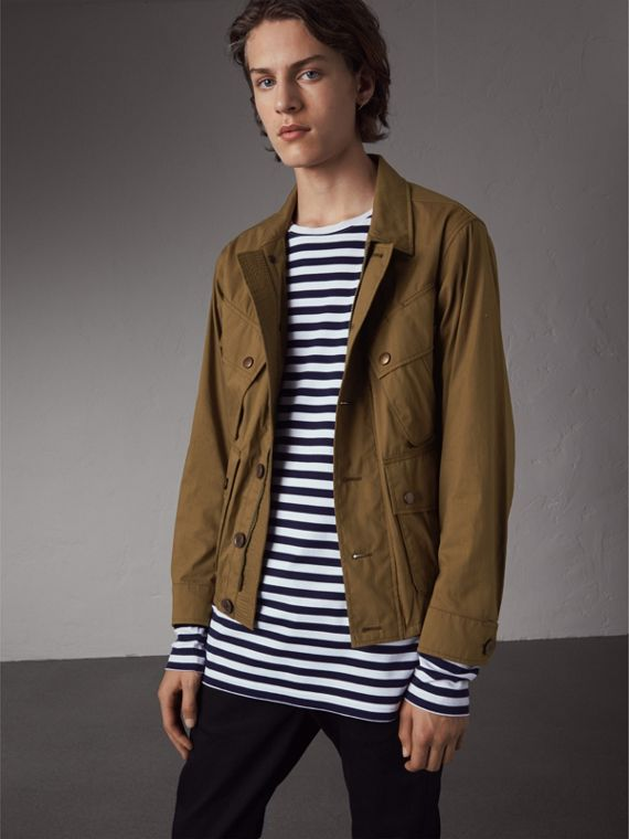 Technical Cotton Canvas Field Jacket - Men | Burberry Hong Kong