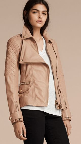 Fitted Lambskin Biker Jacket