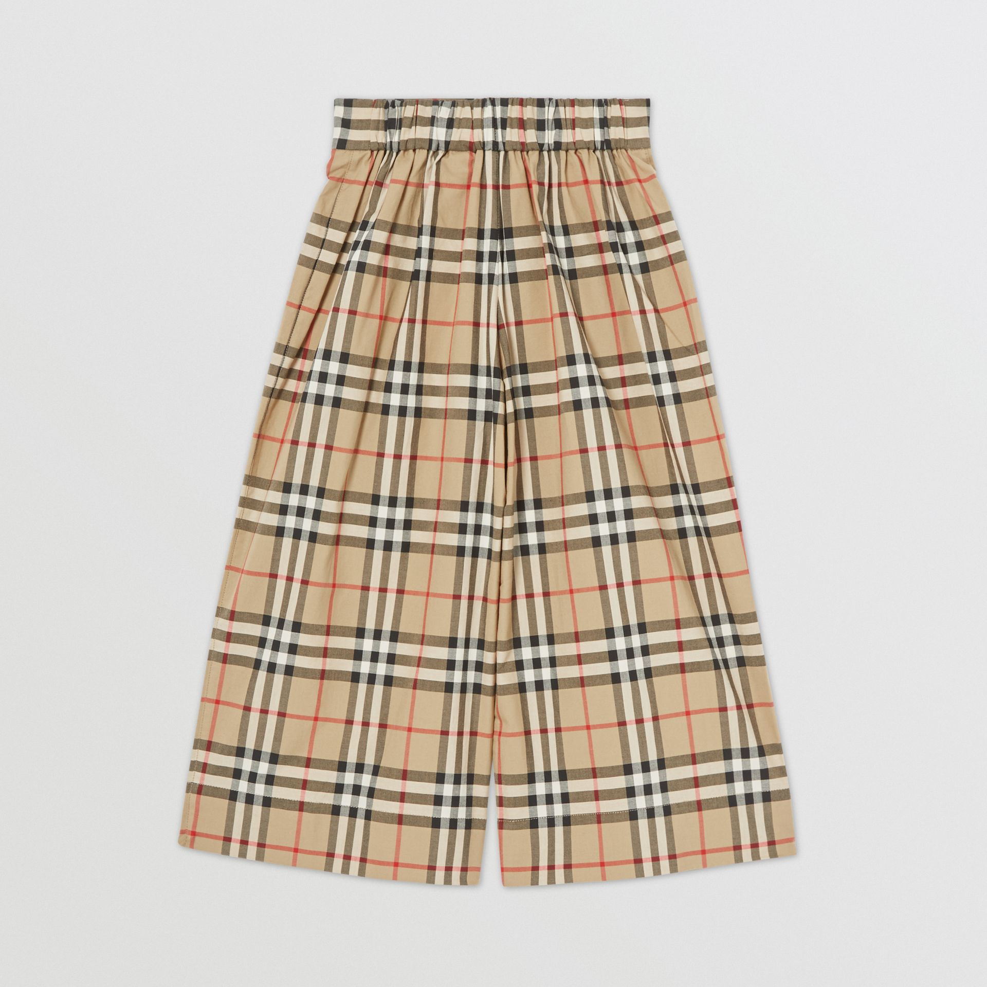 Vintage Check Cotton Sailor Trousers in Archive Beige | Burberry - gallery image 4