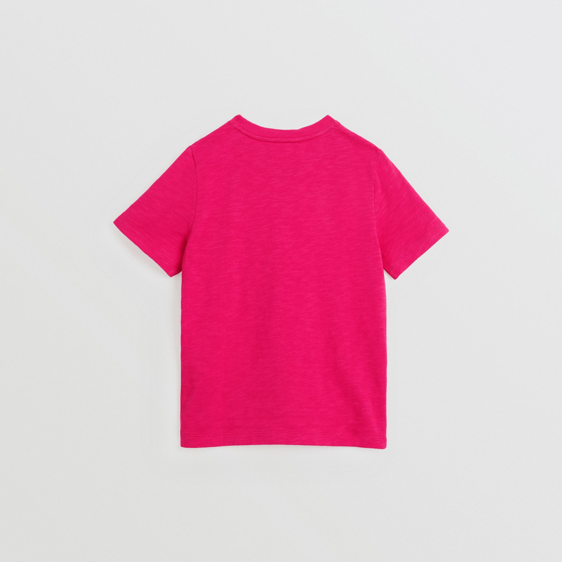Logo Print Cotton T-shirt in Raspberry Pink | Burberry Canada - gallery image 3