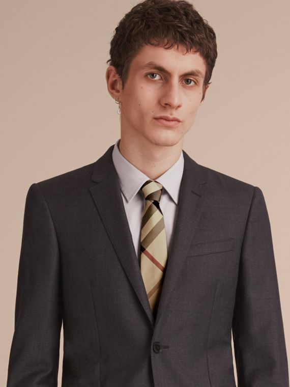 Modern Cut Check Silk Tie in New Classic - Men | Burberry Canada - cell image 2
