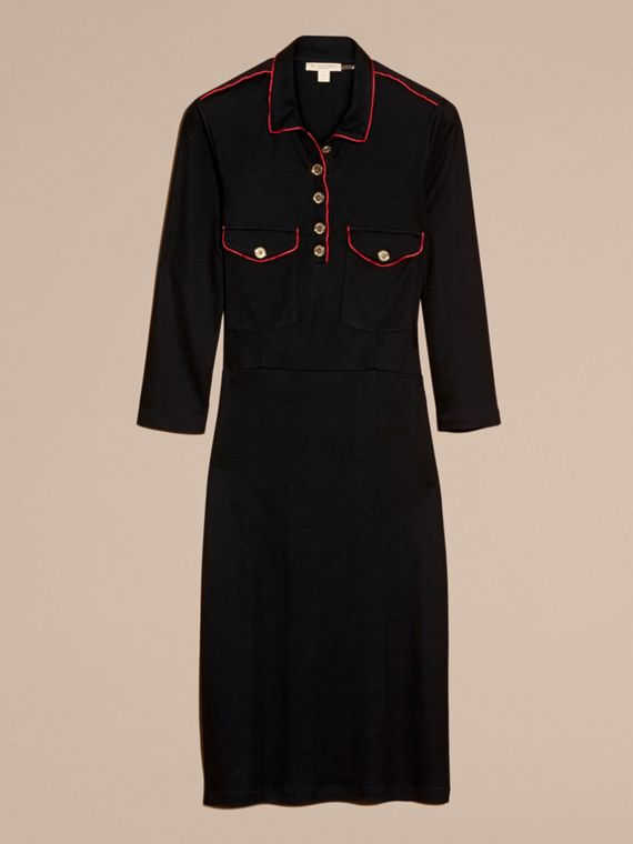 Noir Robe chemise militaire - cell image 3