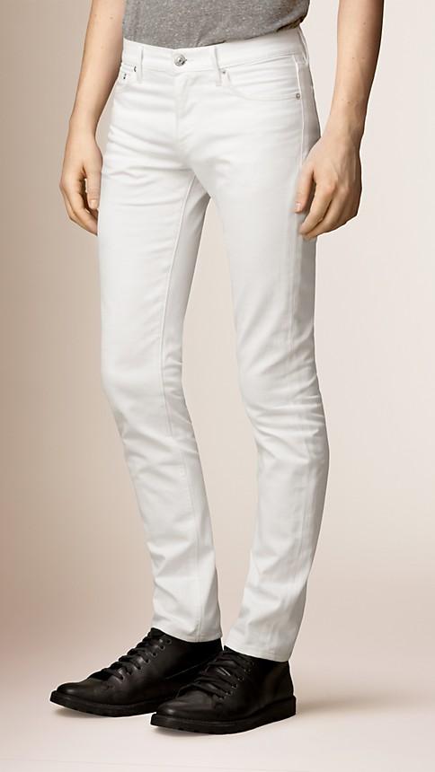 New white Slim Fit White Jeans - Image 1