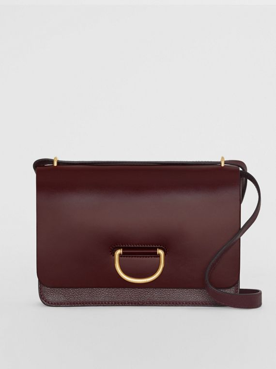 The Medium Leather D-ring Bag in Deep Claret