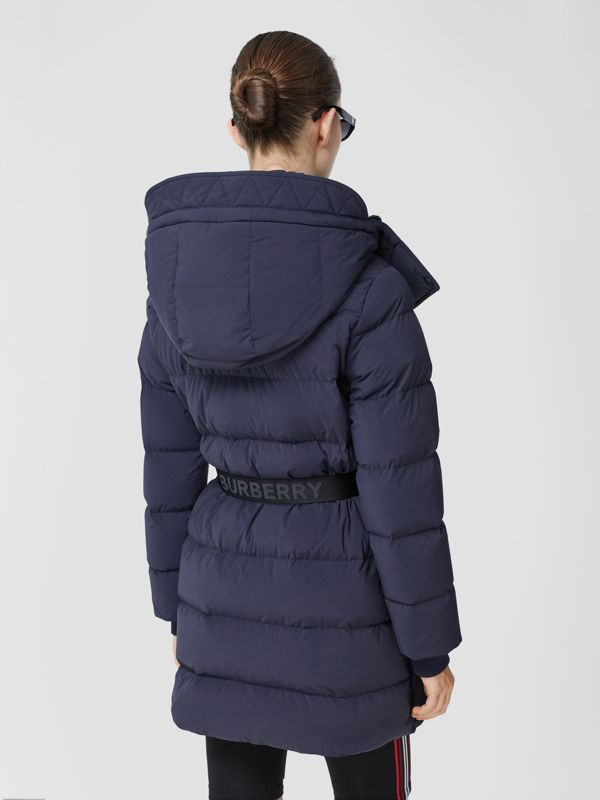 Detachable Hood Belted Puffer Coat in Navy - Women | Burberry Hong Kong S.A.R - cell image 2