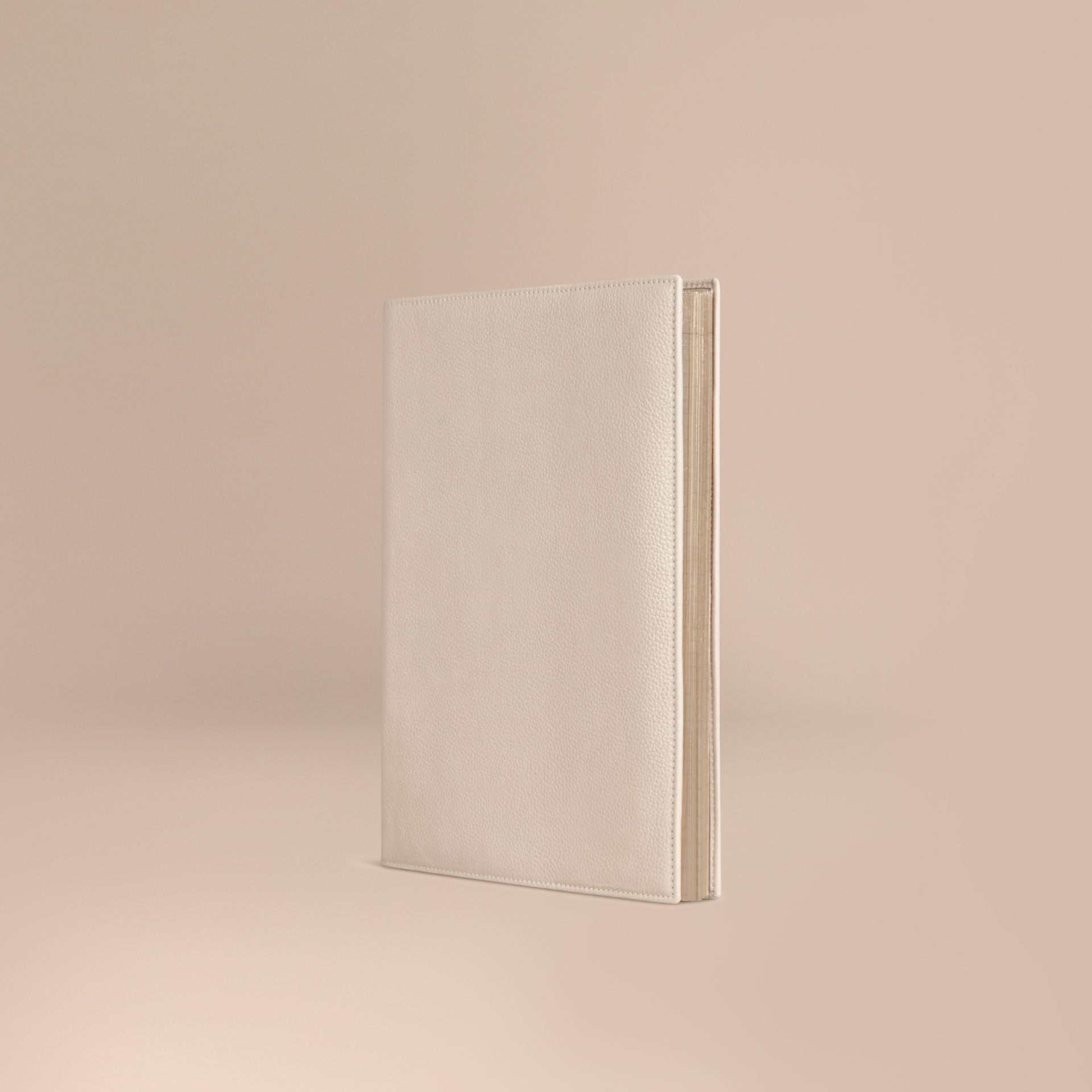 Grainy Leather A4 Notebook in Stone | Burberry - gallery image 1