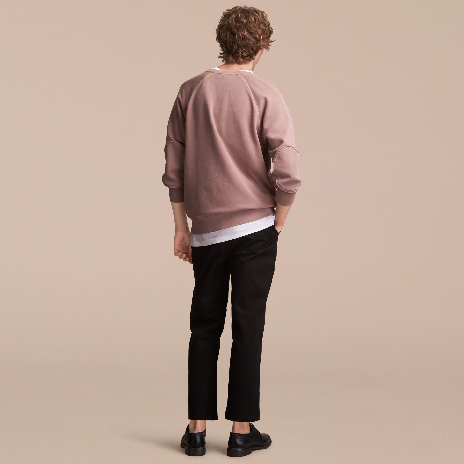 Unisex Pigment-dyed Cotton Oversize Sweatshirt Dusty Mauve - gallery image 3