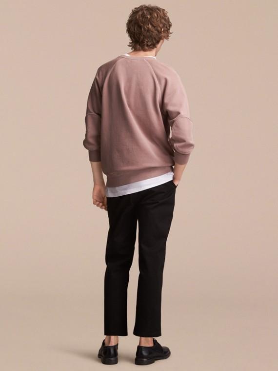 Unisex Pigment-dyed Cotton Oversize Sweatshirt Dusty Mauve - cell image 2