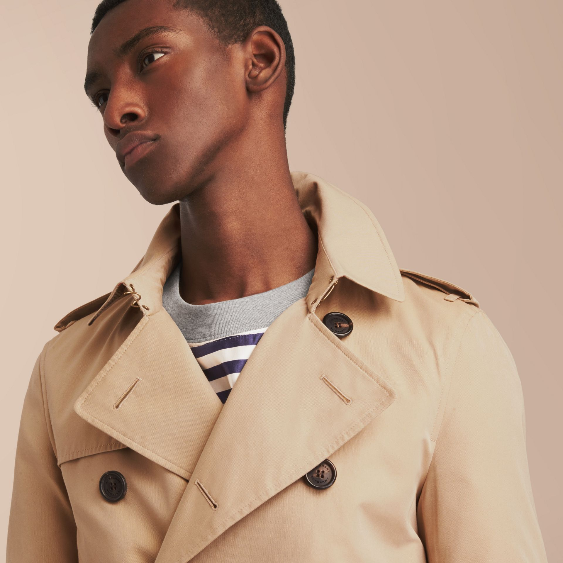 The Sandringham – Long Heritage Trench Coat in Honey - Men | Burberry - gallery image 6