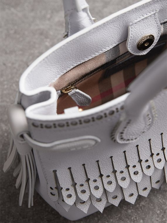 The Small Banner with Brogue Detail in Chalk White - Women | Burberry - cell image 3