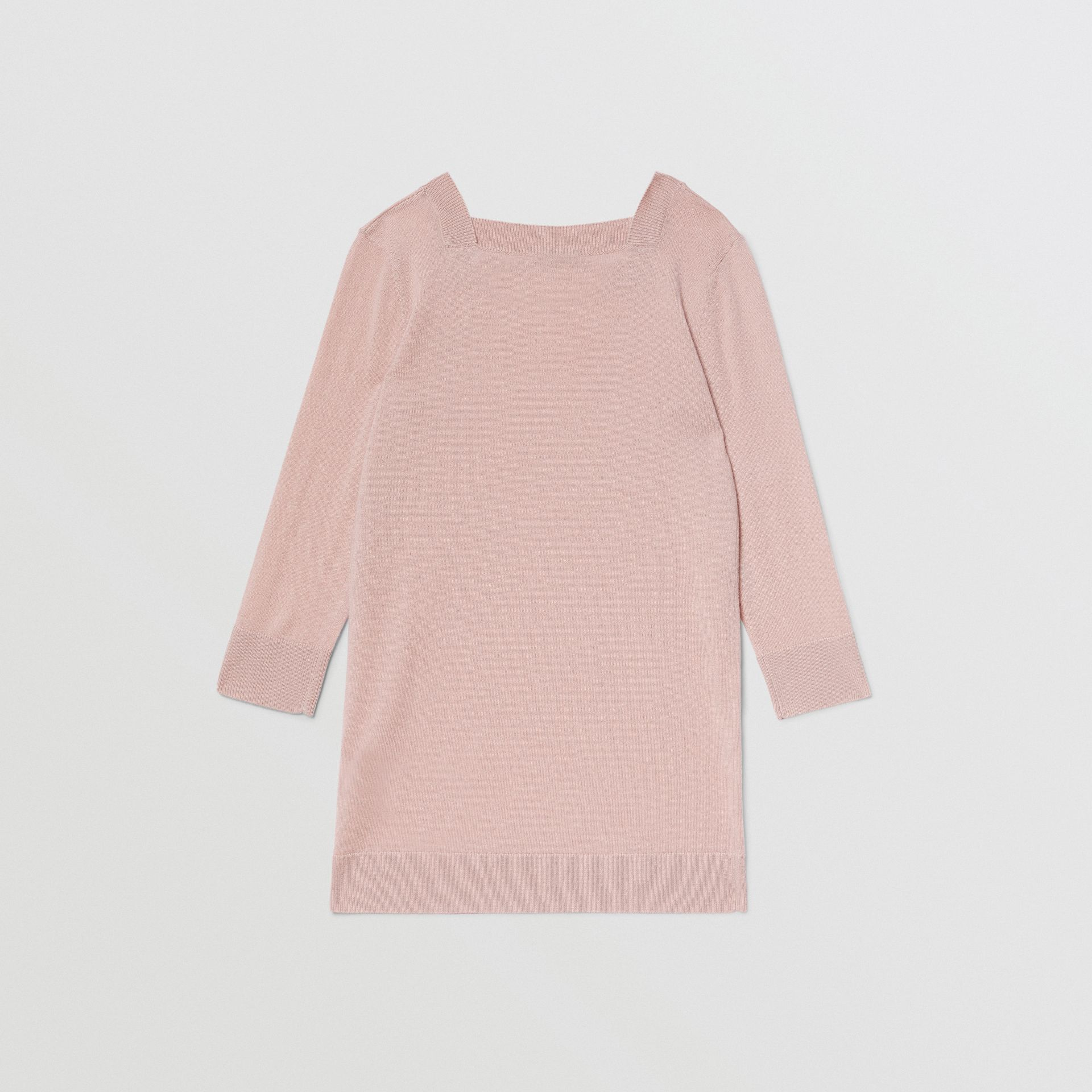Monogram Motif Cashmere Sweater Dress in Lavender Pink | Burberry - gallery image 3