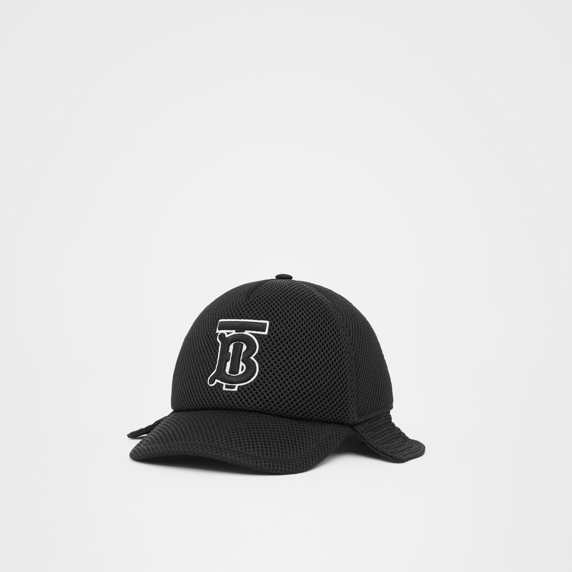 Monogram Motif Reconstructed Baseball Cap in Black   Burberry - gallery image 4