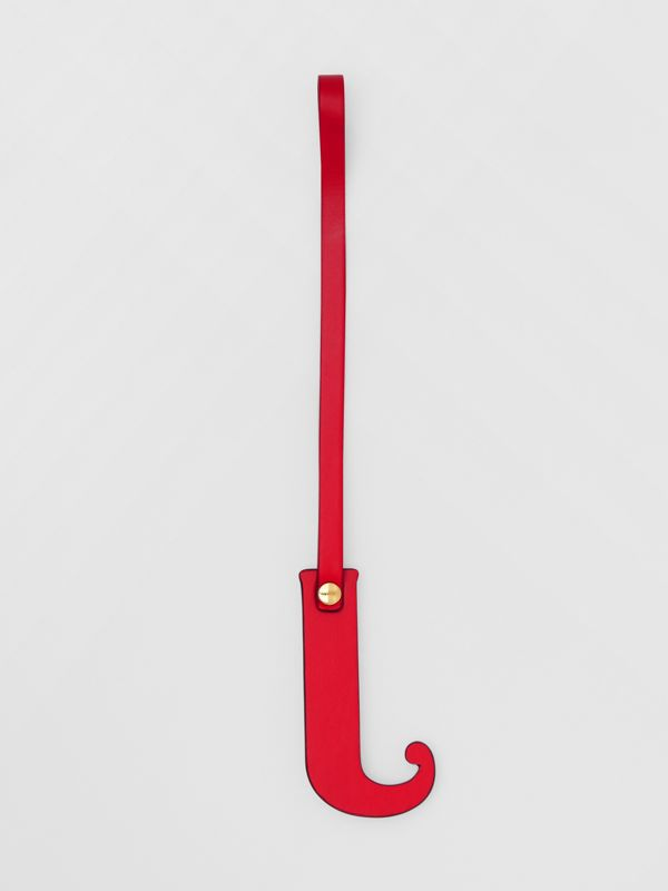 'J' Studded Leather Alphabet Charm in Red/light Gold - Women | Burberry - cell image 2