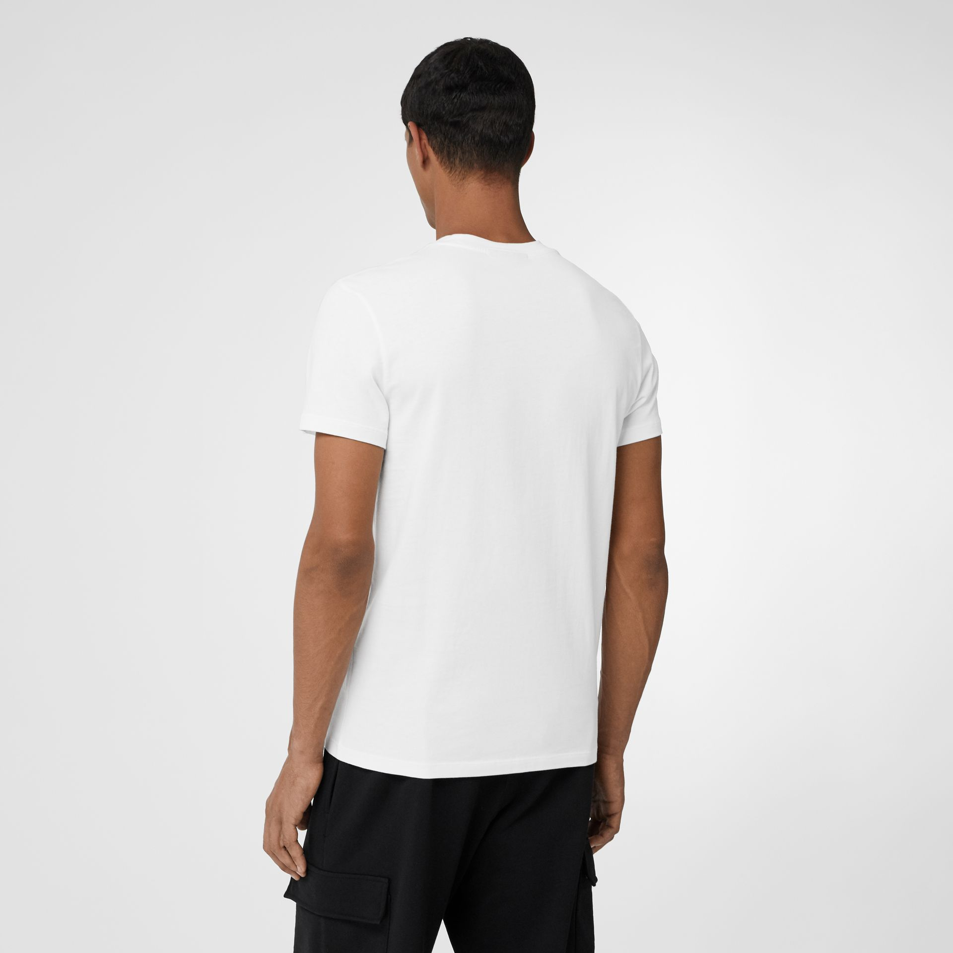 Archive Logo Cotton T-shirt in White - Men | Burberry United States - gallery image 2