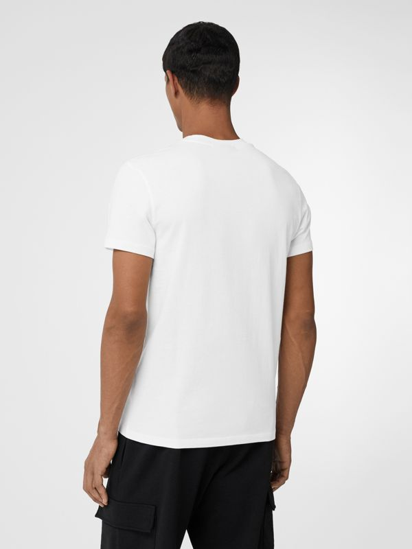 Archive Logo Cotton T-shirt in White - Men | Burberry - cell image 2
