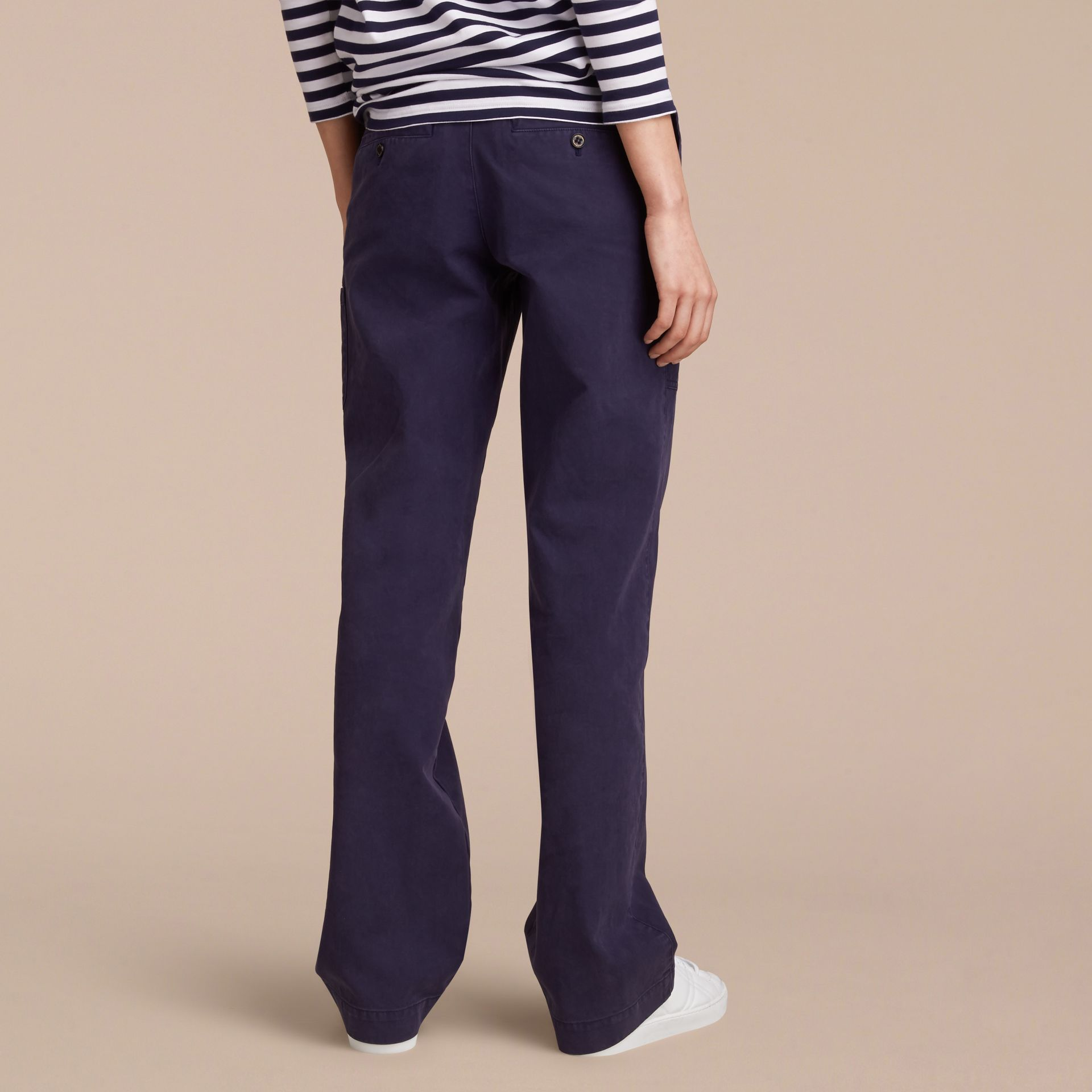Cotton Twill Workwear Trousers - Women | Burberry - gallery image 3