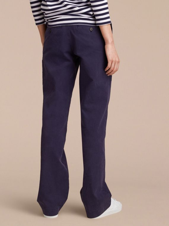 Cotton Twill Workwear Trousers - Women | Burberry - cell image 2
