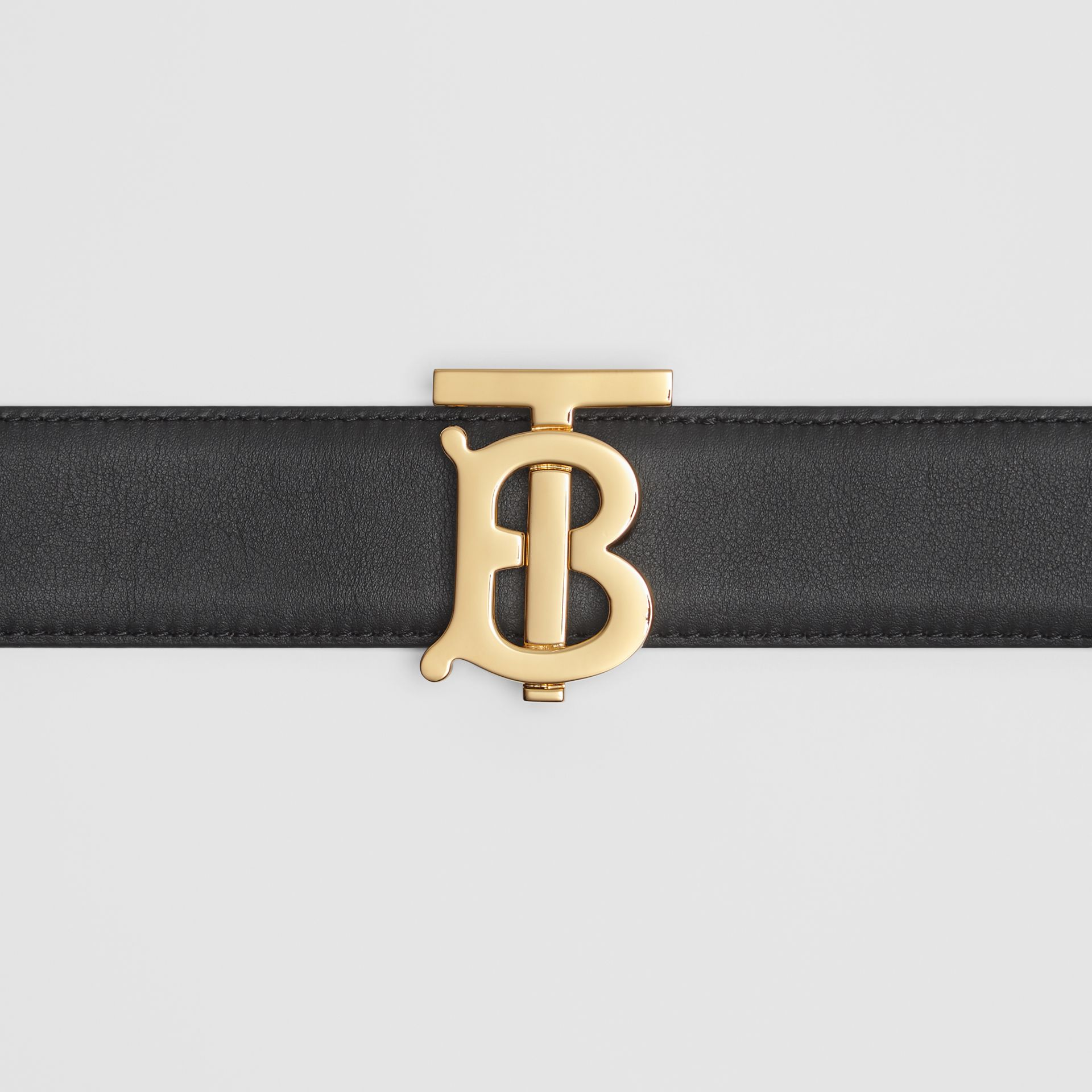 Reversible Monogram Motif Leather Belt in Black/malt Brown - Women | Burberry United Kingdom - gallery image 1
