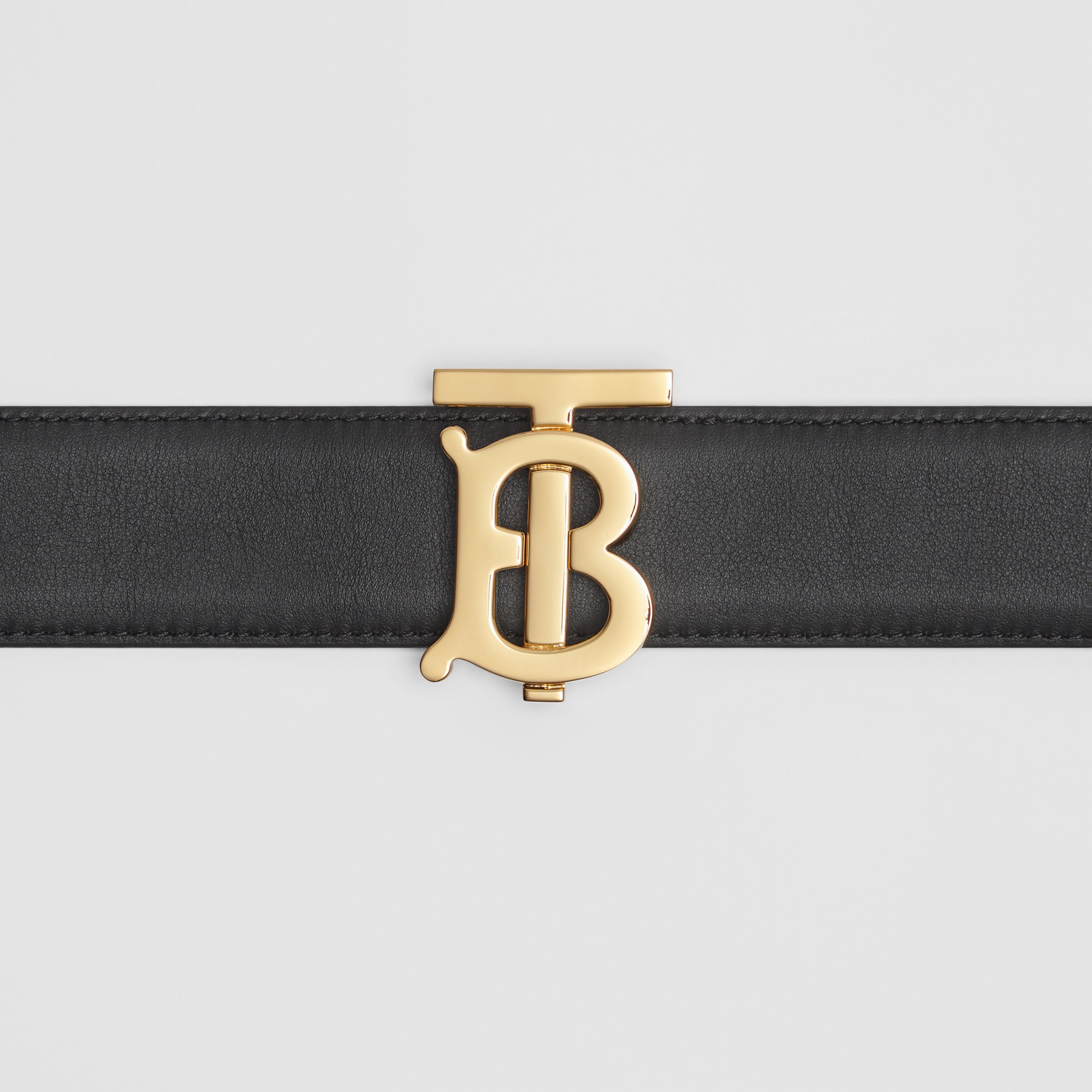 Reversible Monogram Motif Leather Belt in Black/malt Brown - Women | Burberry United Kingdom - 2