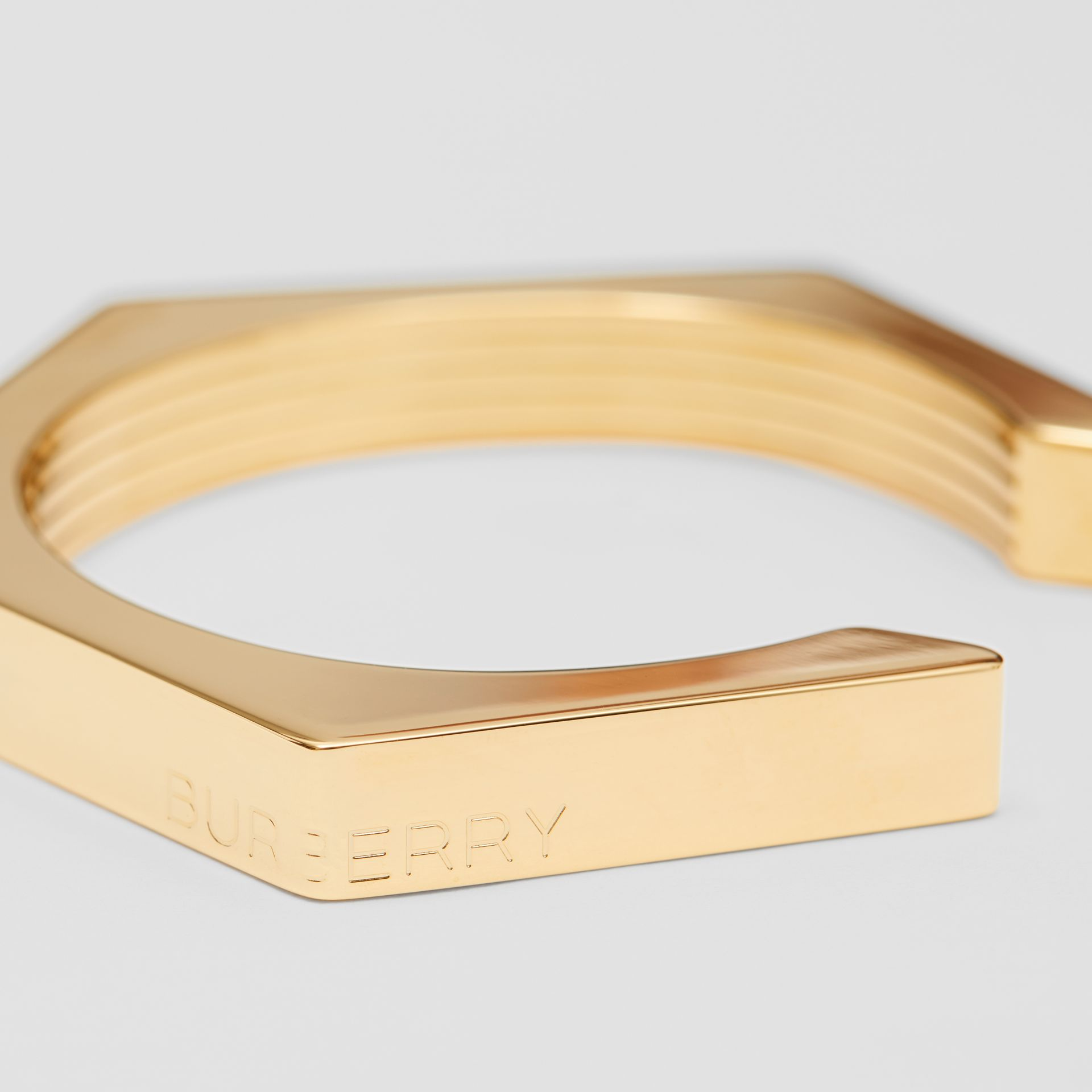Gold-plated Nut Cuff in Light | Burberry - gallery image 1