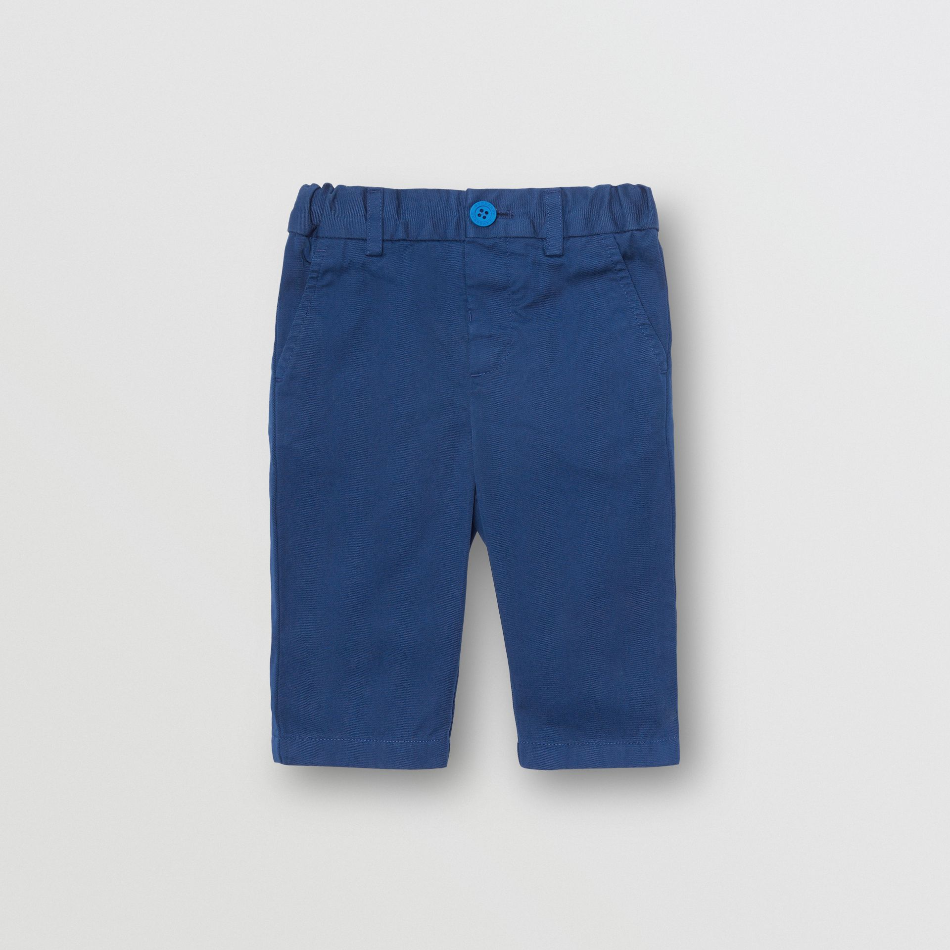 Cotton Chinos in Bright Navy - Children | Burberry - gallery image 0