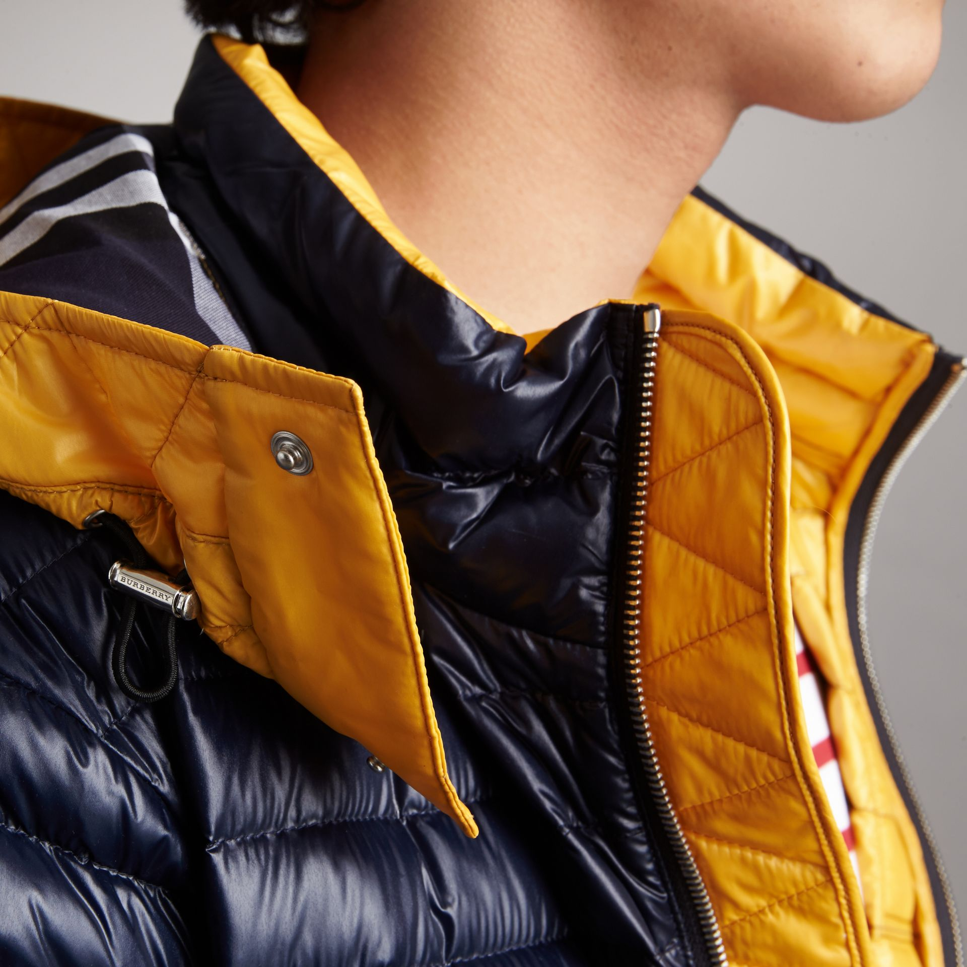 Packaway Hood Down-filled Puffer Jacket in Navy - Men | Burberry - gallery image 4