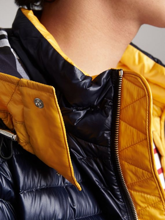 Packaway Hood Down-filled Puffer Jacket in Navy - Men | Burberry - cell image 3