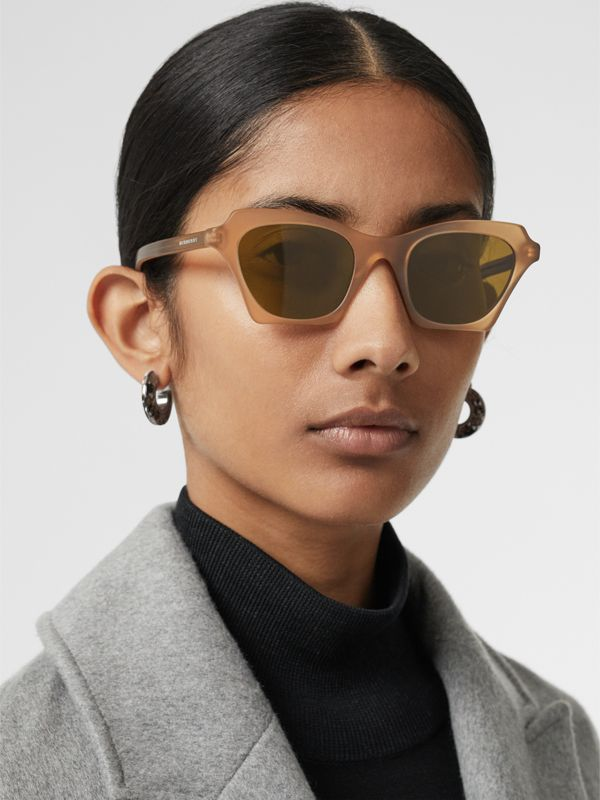 Butterfly Frame Sunglasses in Brown - Women | Burberry United States - cell image 2