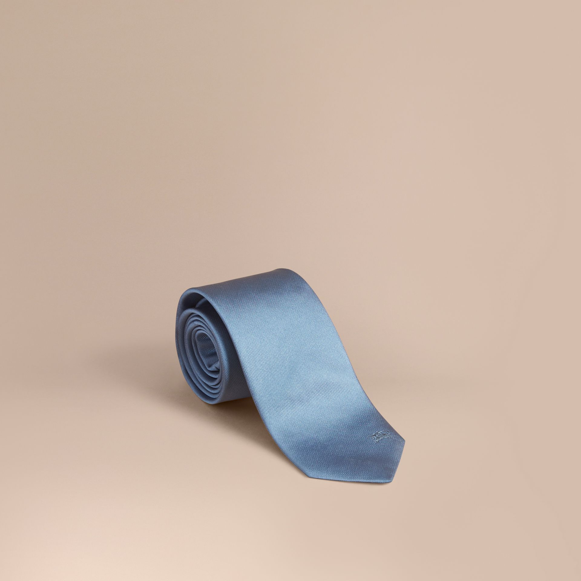 Modern Cut Silk Twill Tie in Sky Blue - gallery image 1