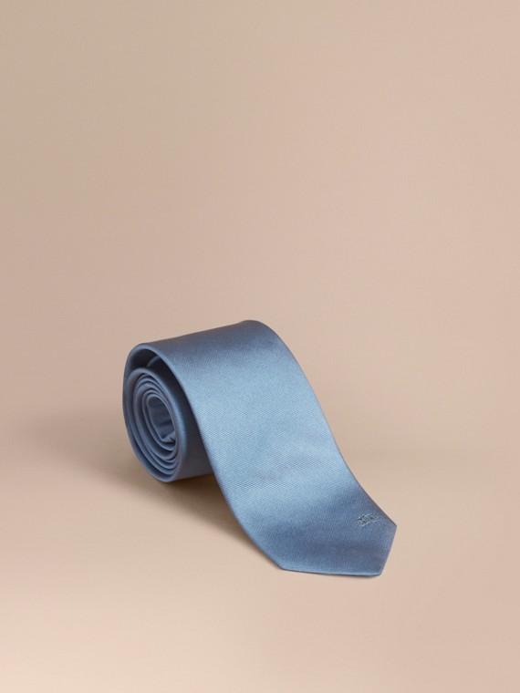 Cravate moderne en sergé de soie Bleu Ciel