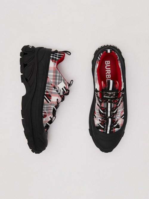 Burberry Tartan Nylon Arthur Sneakers