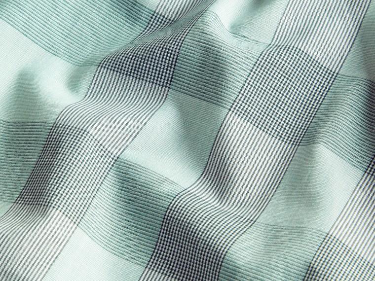 유칼립투스 그린 쇼트 슬리브 체크 코튼 셔츠 유칼립투스 그린 - cell image 1