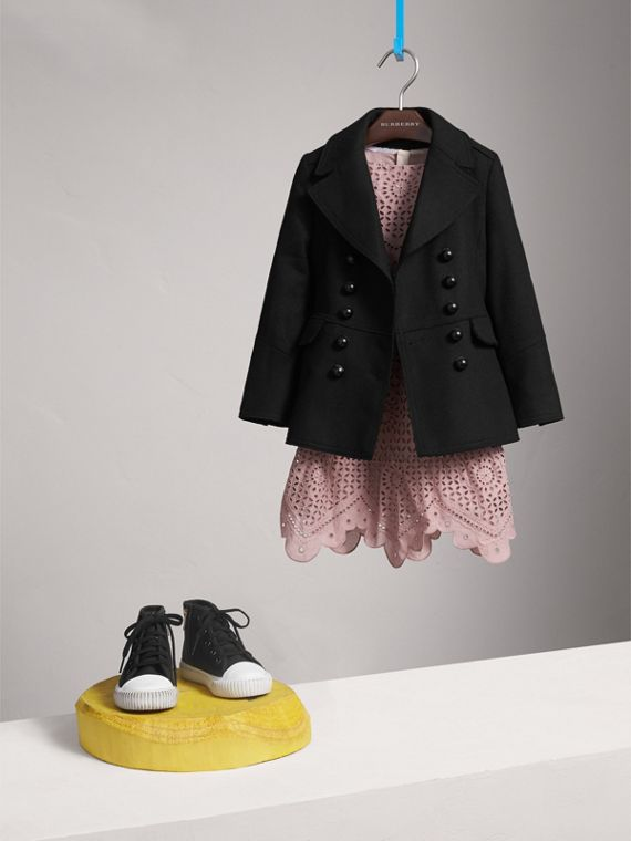 Wool Blend Peplum Jacket - Girl | Burberry Singapore