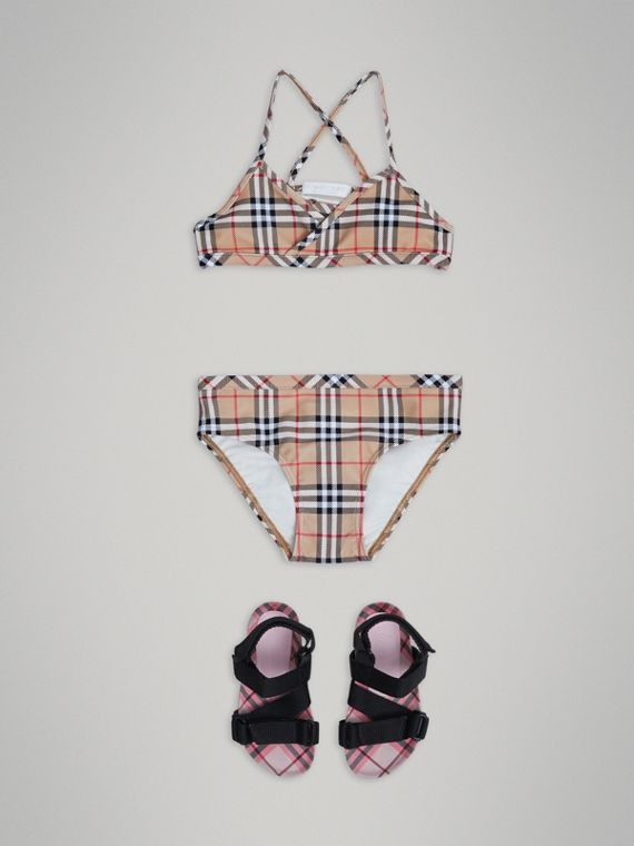 Vintage Check Bikini in Camel - Girl | Burberry Hong Kong - cell image 2