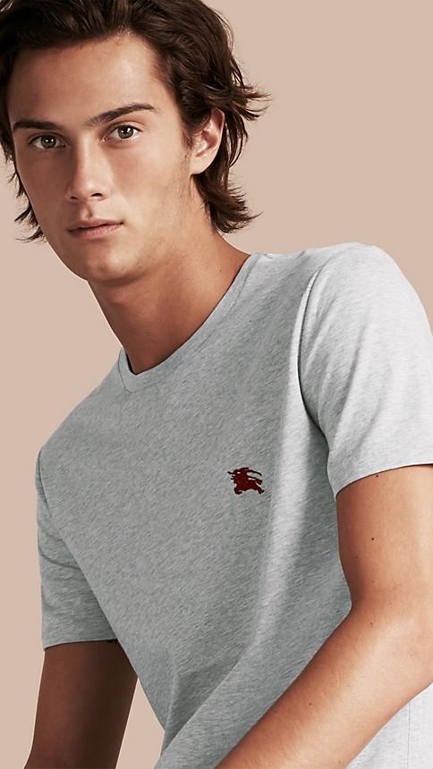 Pale grey melange Liquid-soft Cotton T-Shirt Pale Grey Melange - Image 1