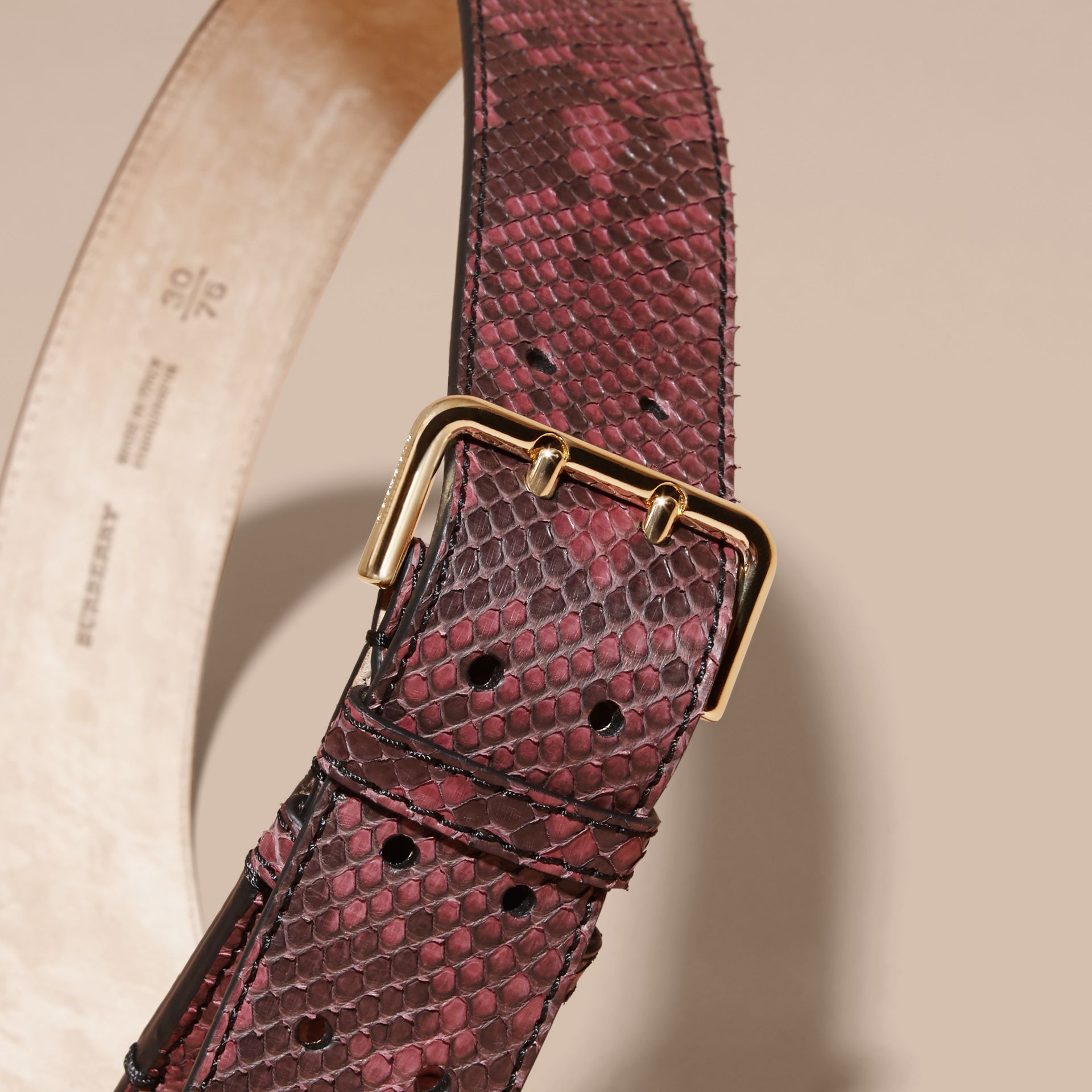 Python Belt in Elderberry - Women | Burberry - gallery image 3