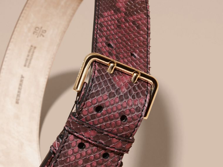 Python Belt in Elderberry - Women | Burberry - cell image 2