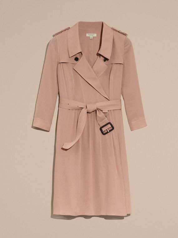 Silk Trench Dress in Nude - cell image 3