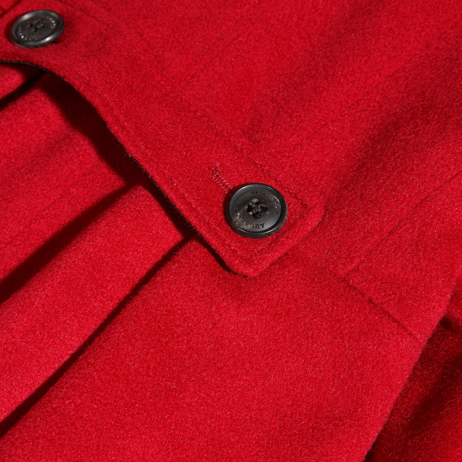 Cashmere Military Coat in Parade Red - gallery image 2