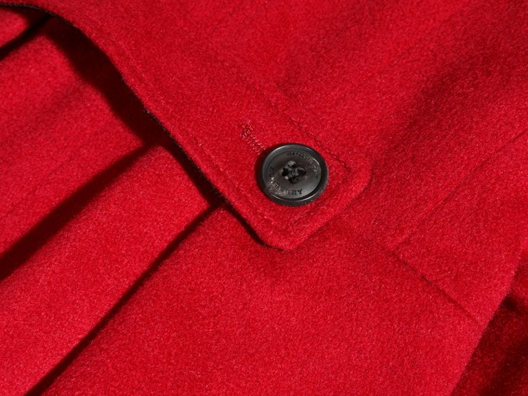 Cashmere Military Coat in Parade Red - cell image 1
