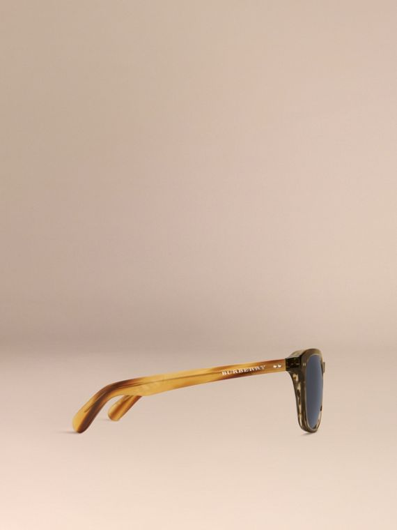 Dark brown horn Square Frame Sunglasses Dark Brown Horn - cell image 3