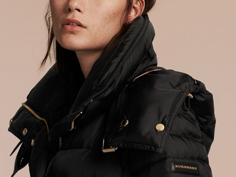 Down-filled Puffer Coat with Packaway Hood - Women | Burberry - cell image 4