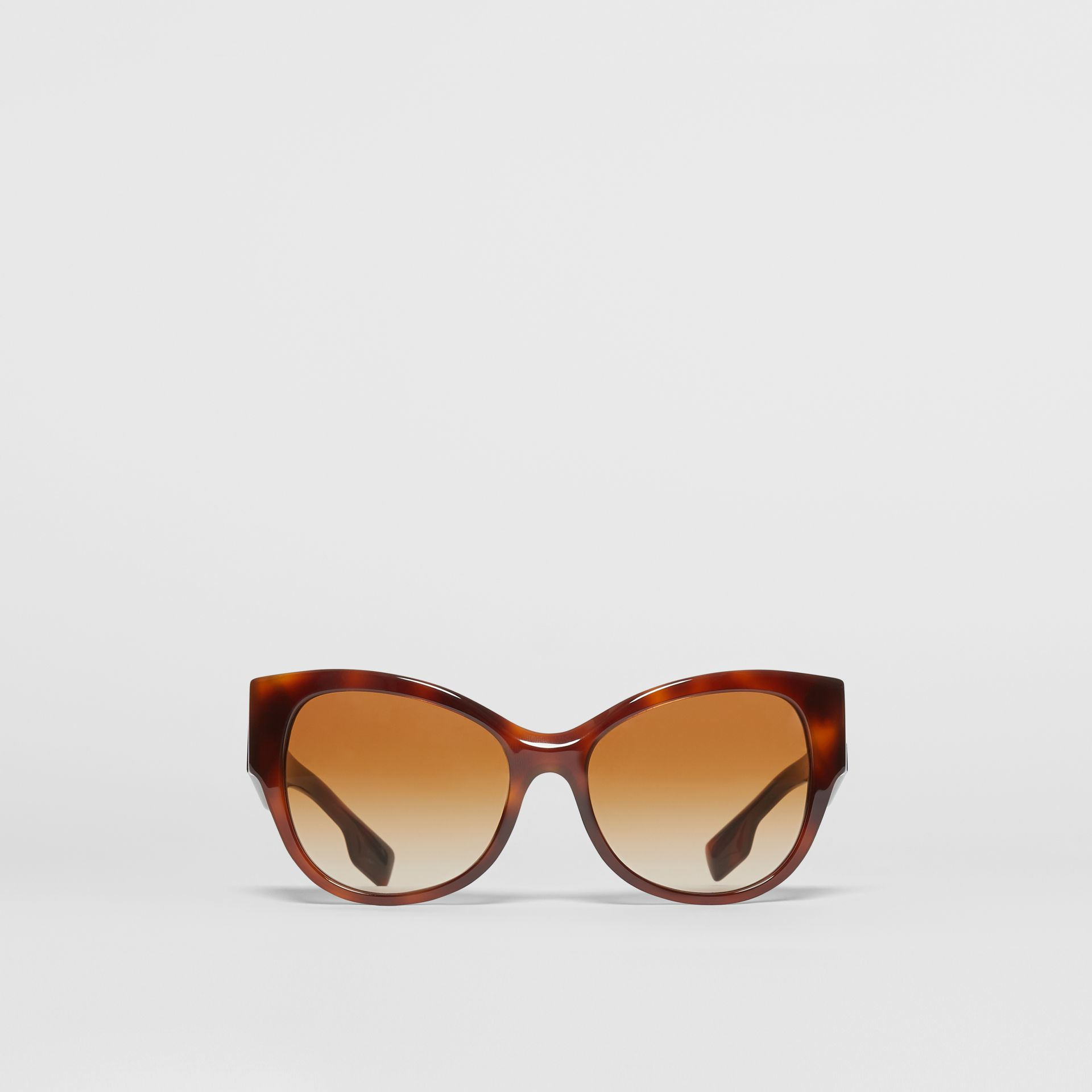 Butterfly Frame Sunglasses in Amber Tortoiseshell - Women | Burberry - gallery image 0