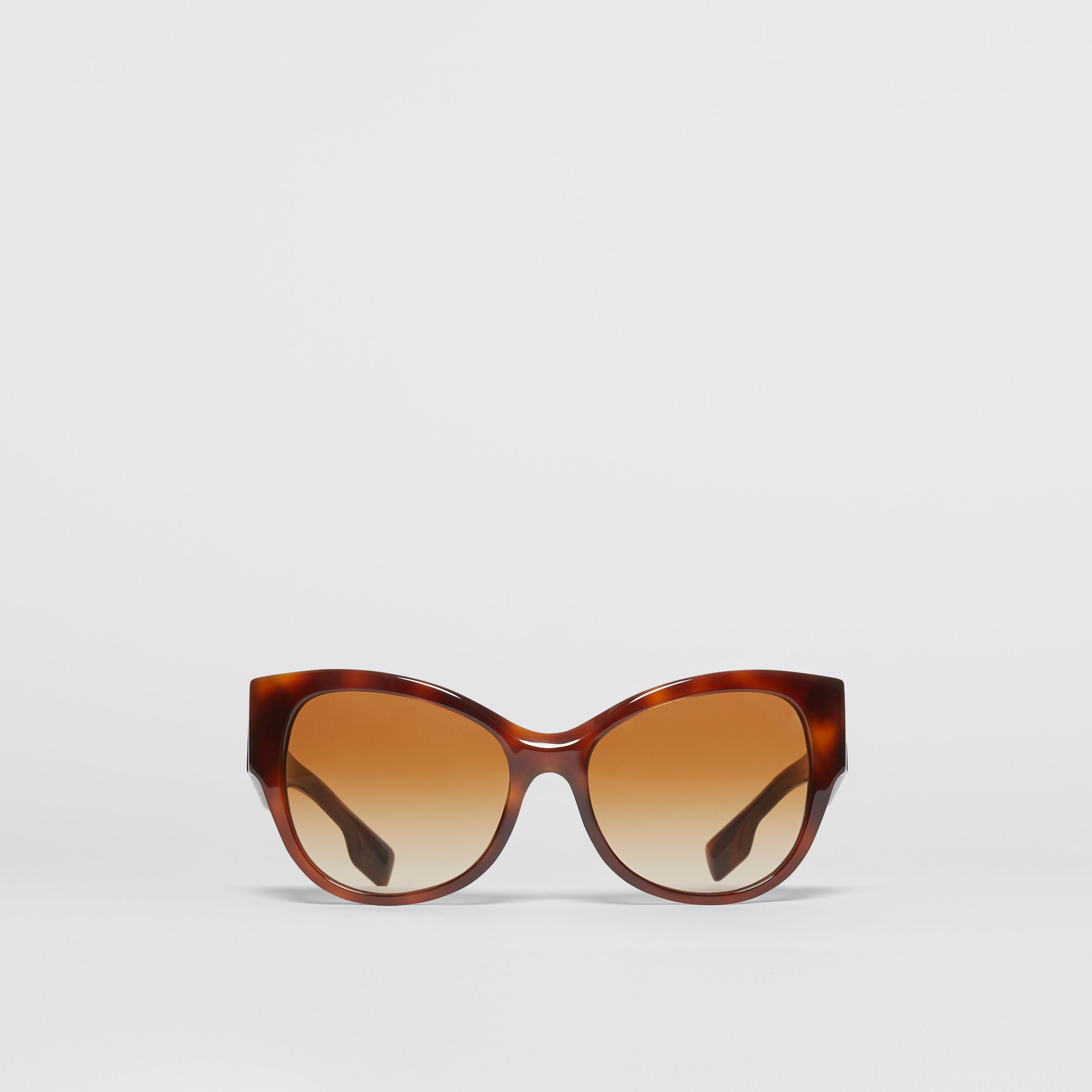 Butterfly Frame Sunglasses in Amber Tortoiseshell - Women | Burberry - 1