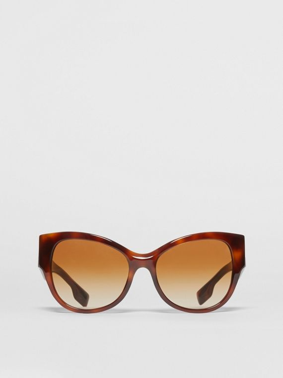 Butterfly Frame Sunglasses in Tortoise Amber