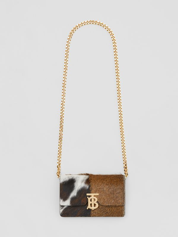 Mini Calf Hair and Leather Shoulder Bag in Black - Women | Burberry Singapore - cell image 3