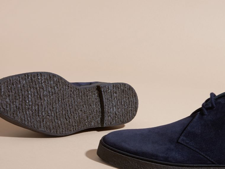 Navy Desert boot in pelle scamosciata con suola in para Navy - cell image 4