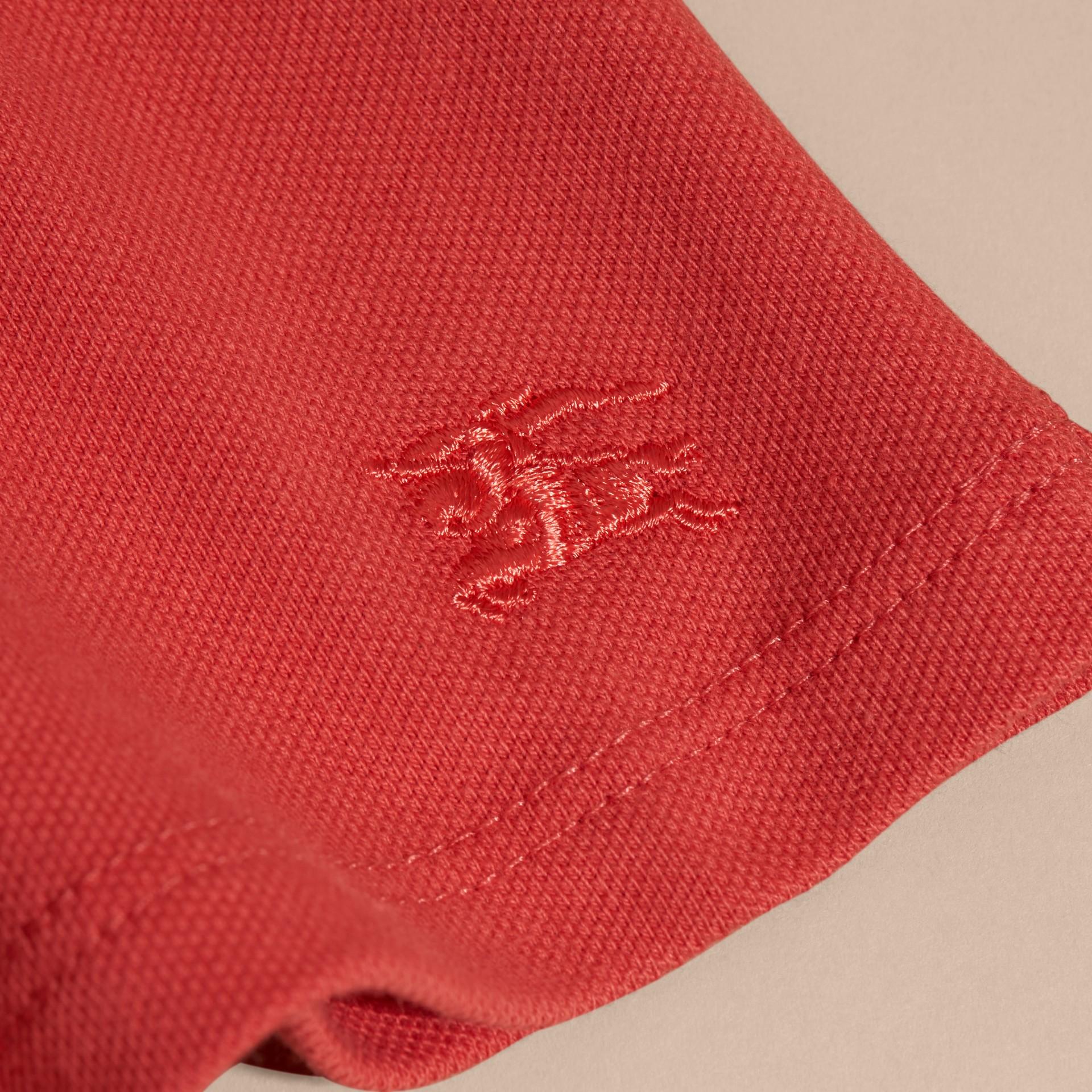 Check Detail Cotton Piqué Shirt Dress - gallery image 2