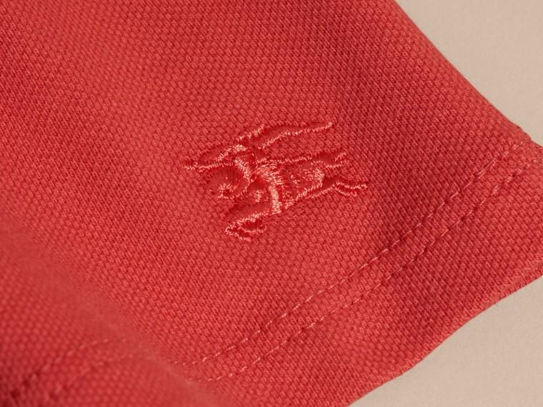 Check Detail Cotton Piqué Shirt Dress - cell image 1